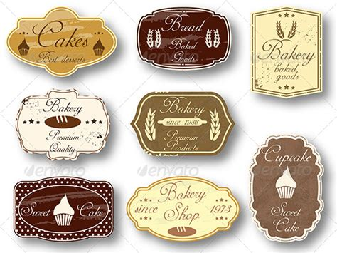 design label cake 8 bakery vintage banners by grki graphicriver