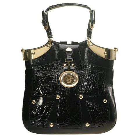 Versace Icon Satchel by Versace Patent Large Icon Handbag