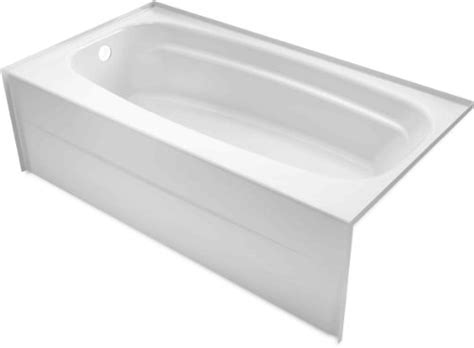 54 inch bathtub left drain delta 245430al 54 inch by 30 inch styla acrylic with