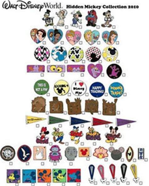 wdw complete set of 60 disney pins 2010 hidden mickey cast