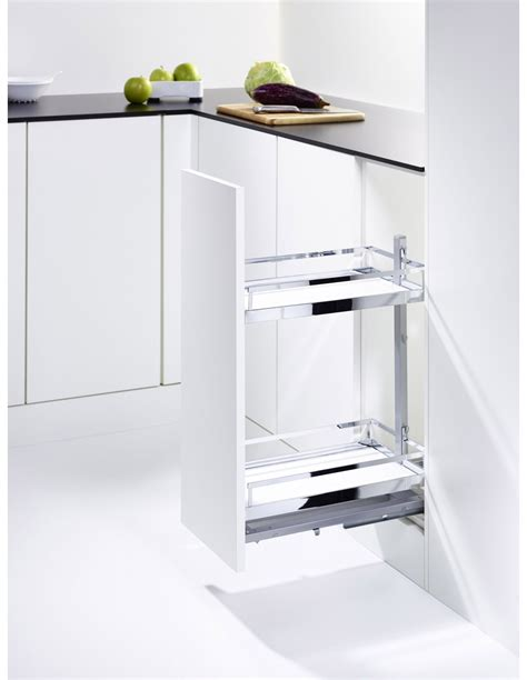 kesseböhmer base cabinet pull out storage kessebohmer base pull out storage kasbp400sc chrome style