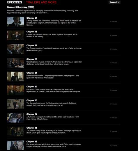 house of cards episode summaries quot house of cards quot la saison 3 diffus 233 e par erreur pendant une demi heure sur netflix
