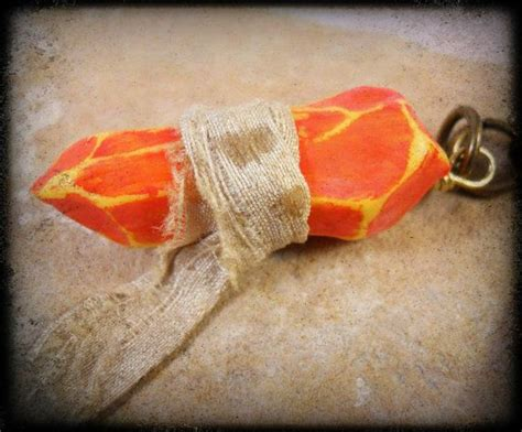 Orange Sign Soapstone souls inspired soapstone keychain or necklace orange guidance