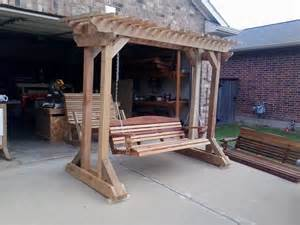 pergola swing plans arbors and stands