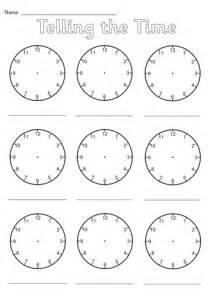 blank clocks worksheet by simon h teaching resources tes