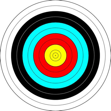 printable targets archery target clip art at clker com vector clip art