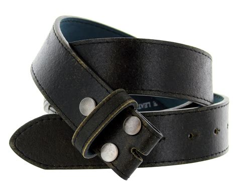 bs57 distressed leather belt 1 1 2 quot wide black