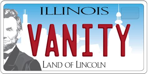 State Of Illinois Vanity Plates License Plates