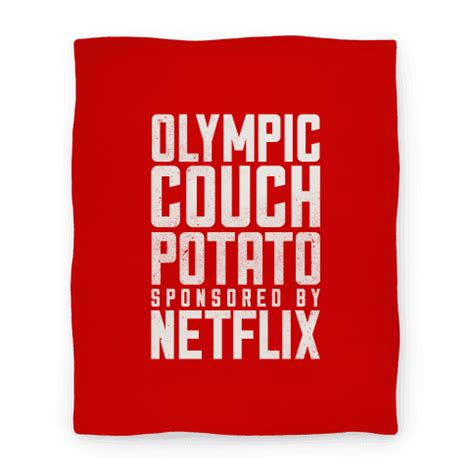 couch potato guide human olympic couch potato homedecor blanket