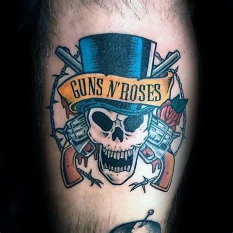 gun roses tattoo 40 guns and roses designs f 252 r m 228 nner rock