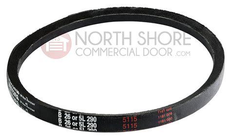 garage door opener 5l290 v belt