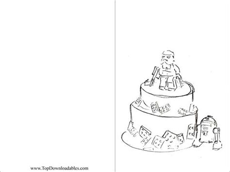 happy birthday star wars coloring pages 7 best images of lego birthday printable cards to color