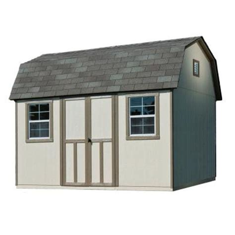 Home Depot Sheds Prices by Handy Home Products Briarwood 12 Ft X 8 Ft Wood Storage