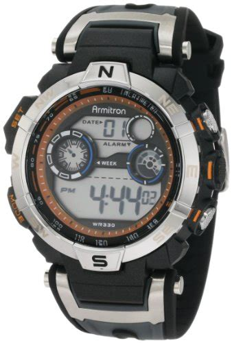 Bonia Chronograph Orange Rosegold Combi Brown Leather armitron s 408231orbk chronograph black and gray resin