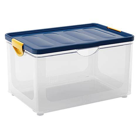 Luftdichte Aufbewahrungsboxen Keller by Kis Clipper Box 55 L Blau Transparent Mit Deckel Bauhaus