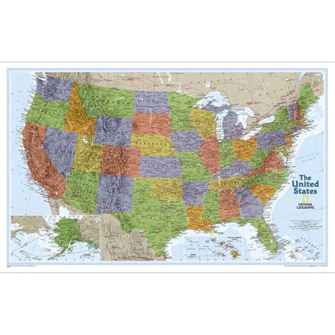 united states wall maps united states classic wall map national geographic store