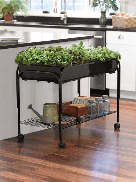 Indoor Planters Mobile Salad Garden Gardener S Supply Mobile Vegetable Garden