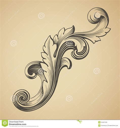 free baroque design elements vector vector vintage baroque pattern design element royalty free