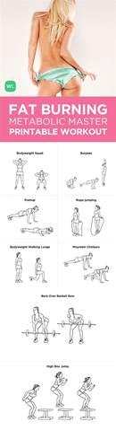 burning workout fitness