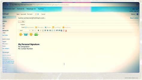 create  email signature  hotmail youtube