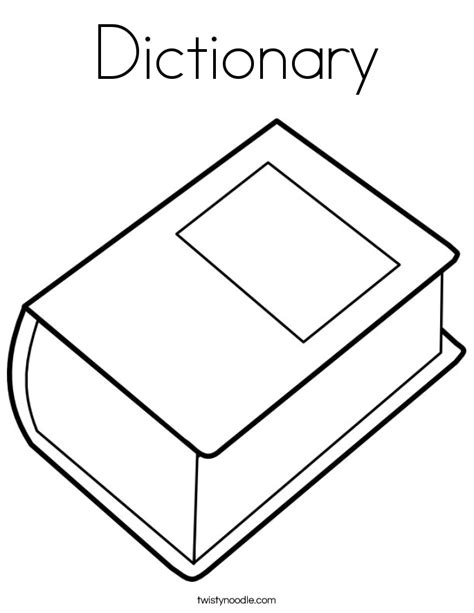 coloring book dictionary dictionary coloring page twisty noodle