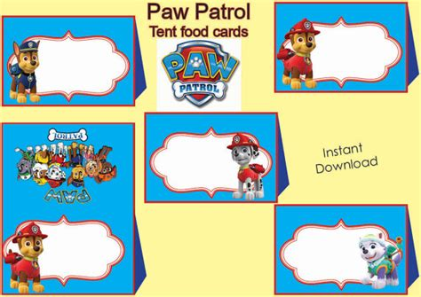 paw patrol thank you card template unavailable listing on etsy