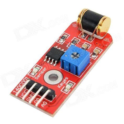 adjustable sensitivity vibration sensor module for arduino
