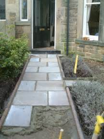 Indian Stone Patios Front Path And Victorian Edging Tiles Olive Garden