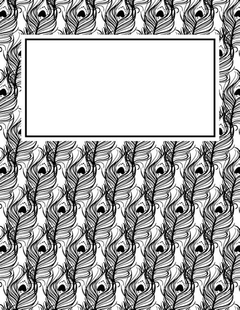 Black And White Binder Cover Templates by 1000 Ideas About Binder Cover Templates On