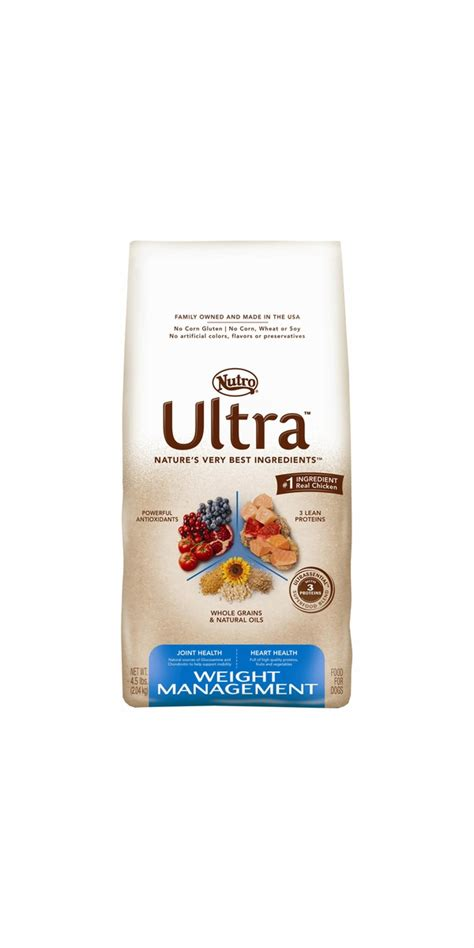 nutro ultra puppy food nutro ultra weight management food 4 5 lb