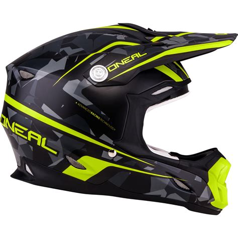 Oneal 7 Series Camo Yellow Grey Motocross Helmet Acu