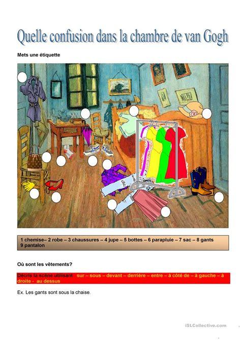Dans La Chambre by Quelle Confusion Dans La Chambre De Gogh Fiche D