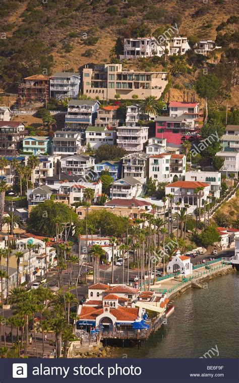 buy house in california usa avalon ca usa houses in town of avalon santa catalina island stock photo royalty