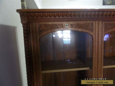 antique china cabinets 1800 s antique vintage curio cabinet china cabinet solid oak