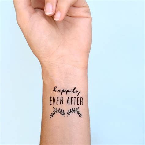 happily ever after tattoo best wedding ideas for the rebel in you