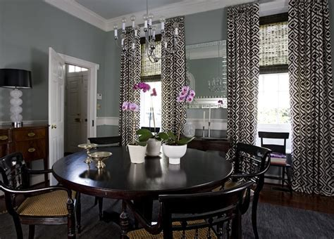 what color curtains go with gray walls la fiorentina curtains eclectic dining room angie