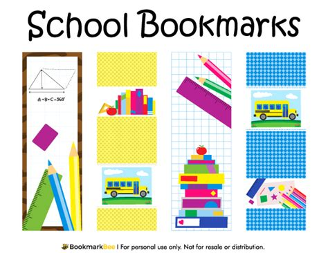 printable school bookmarks printable school bookmarks