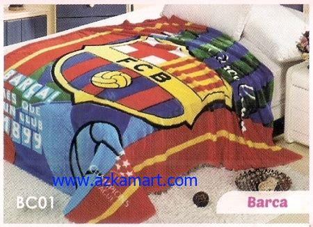 Selimut Barca Barcelona selimut barcelona sprei dan selimut motif bola