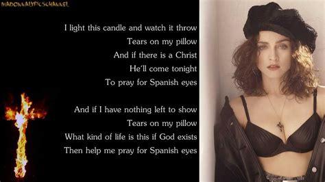 madonna lyrics on screen