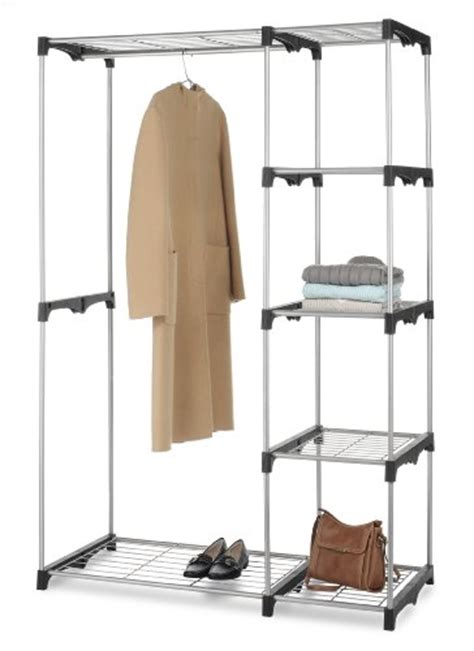 Wardrobe Pole Holders by Whitmor Rod Closet System Organizer Wardrobe