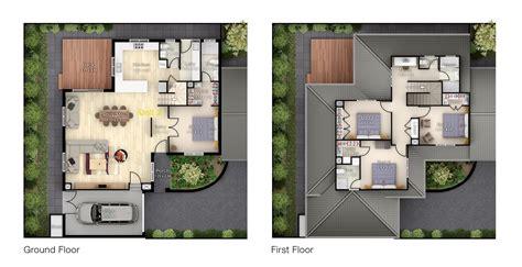 multi story house plans 3d 3d floor plan design modern residential architecture floor plans 3d floor plan rendering cleanpix