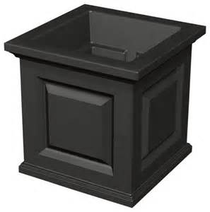 nantucket planter black contemporary outdoor pots and