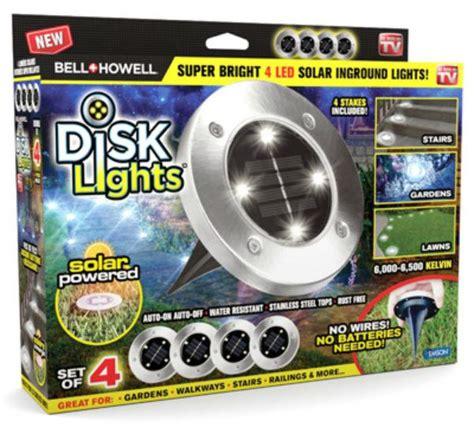 solar powered lights as seen on tv bell howell 1998 solar powered led outdoor disk lights as
