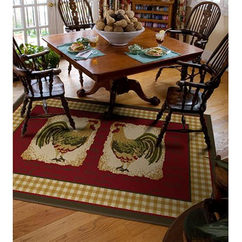 Tuscan Kitchen Canister Sets orian country rooster spanish rug walmart com