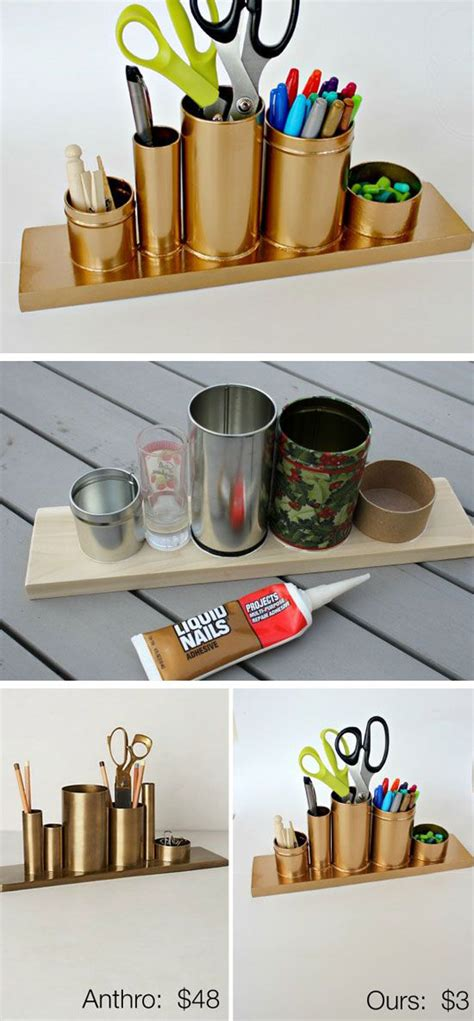 Small Desk Space Organizing Ideas 20 Diy Desk Organizer Tutorials Gurl