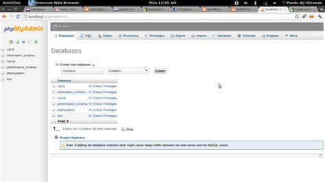 tutorial xp phpmyadmin membuat database di phpmyadmin bagaimana cara membuat
