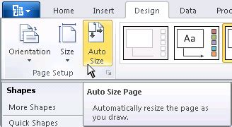 visio 2010 page setup automatic page sizing in visio 2010 visio insights