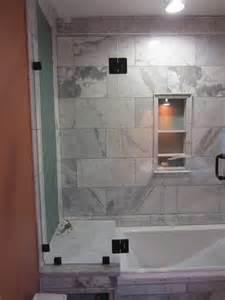 tub and shower frameless enclosure patriot glass and