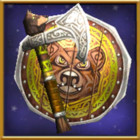 Winterbane Gauntlet Gift Card - item thane s axe and shield level 60 wizard101 wiki