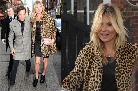Starry Starry Kate Moss Celebrates Turning 34 by Kate Moss Celebrates 40th Birthday In Chic Leopard